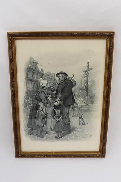 Framed Print David Copperfield Charles Dickens Mr Peggotty By Frederick Barnard