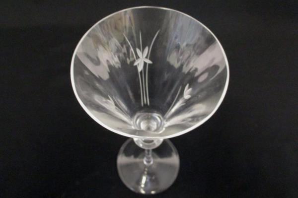Set of 2 Fluted Champagne Glasses Elegant Etched Glass Formal Wedding Party