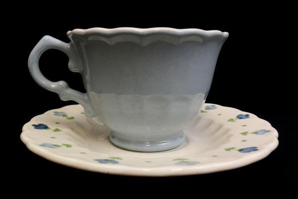 Vintage Vernon Ware True Blue Cup And Saucer By Metlox Tea Cup