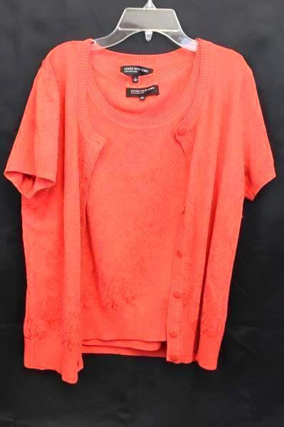 Women's JONES NEW YORK Collection Size Large Orange Tank Sweater Cover