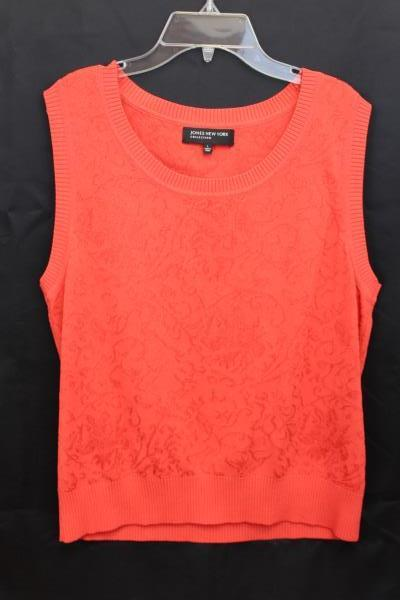 Women's JONES NEW YORK Collection Size Large Orange Tank Sweater Cover