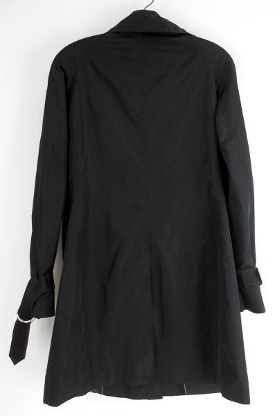 TAHARI Trench Coat Double Breasted Black Waterproof Women's XS