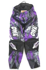 One Industries Carbon Series Boys 2.0 Motocross Pants Purple & Black Size Y24