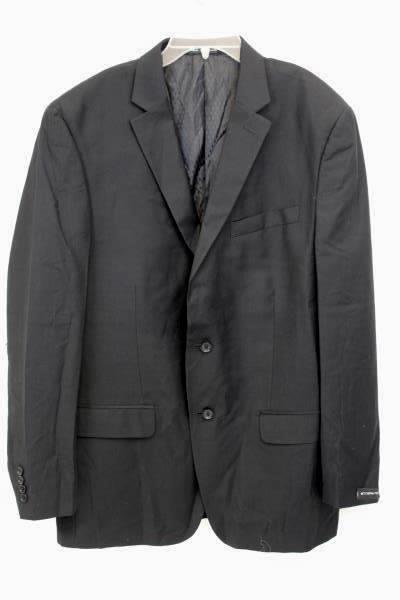 Womans Dark Blue Blazer Half Button Up Size 38 Regular 100% Wool