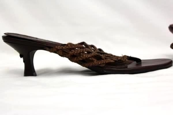 Lower East Side Slip On Sandals Brown Size 7 1/2