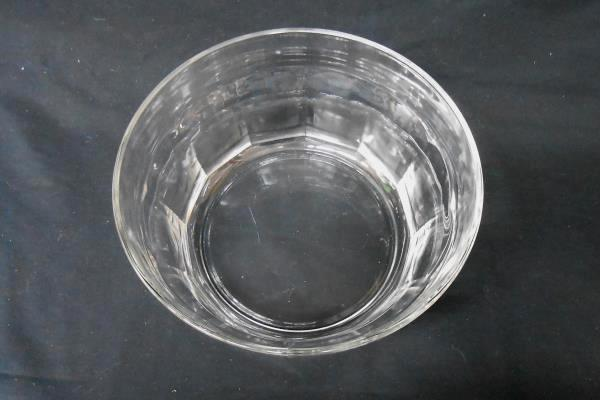 Deep Pressed Glass Scalloped Edge Serving Bowl Dinner Party Piece