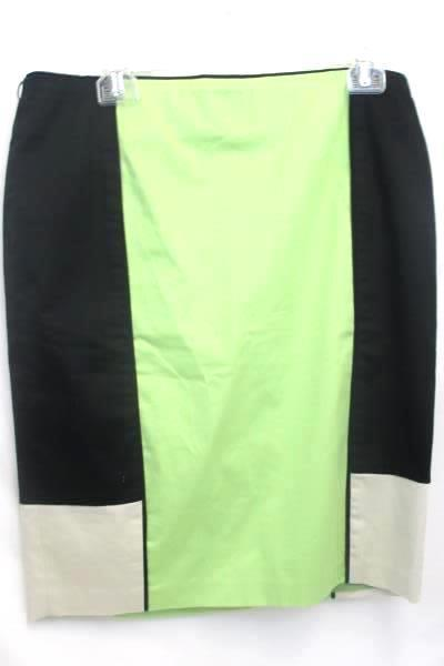 Lot of 2 Women's Pencil Skirts Size 8 ~Renuar and Old Navy Black Green Purple