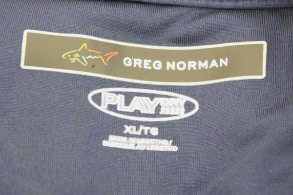 Greg Norman Athletic Shirt Polo Blue w/ White Stripes Men's Size XL