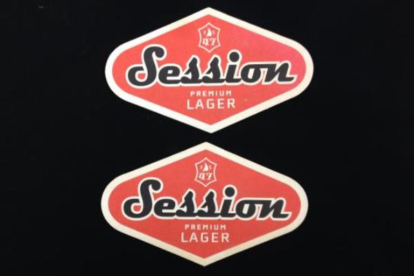 2: Hood River Oregon Session Lager Beer Cardboard Paper Coasters