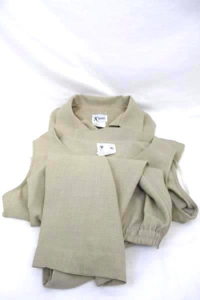 K Studio Size 12 Lot Of 3 Shirt Undershirt Pants Suit Tan Zip Up