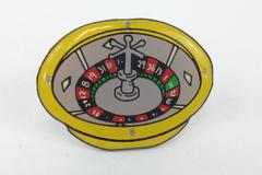 Casino Roulette Wheel Gamble Play Enamel Lapel Hat Pin Flashing Light Up