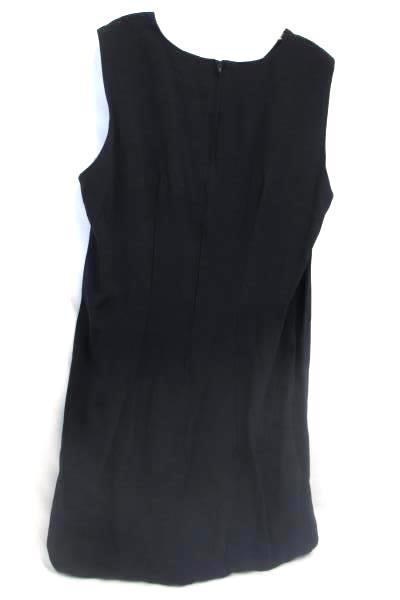 Womens Dress By Piccalino Plus Solid Black Zip up 54%Rayon Size 16
