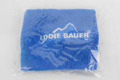 Blue Eddie Bauer Wrist Sweat Band Blue Logo Adver One Size Sealed