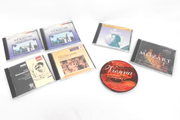 Lot of 7 Various Classical / Opera Related USED CDs Chopin Mozart Strauss