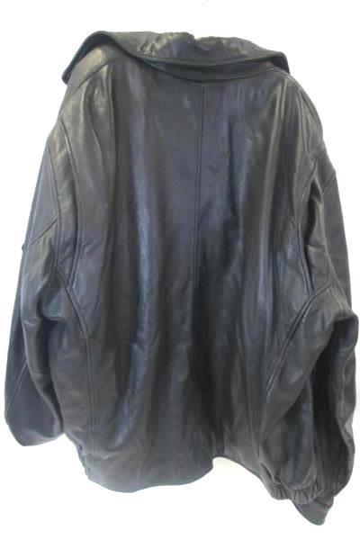 Marc New York Men's Leather Jacket Black Thermollite Plus Insulation Size L