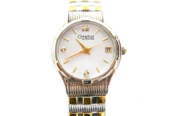 Caravelle Bulova Quarts Water Resistant Stainless Steel 2 Tone Band and Back
