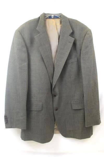 Lot Of 2 Men's Suit Jacket Pants Combo By Chaps Tan w/ Black Spots Size 44R