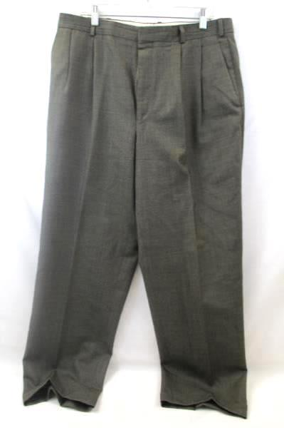 Lot Of 2 Men's Suit Jacket Pants Combo By Chaps Tan w/ Black Spots Size 44R