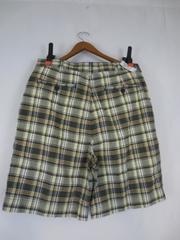 Men's JOS A BANK 100% Cotton Plaid Blue Green Checkered Shorts Size 34 NWT