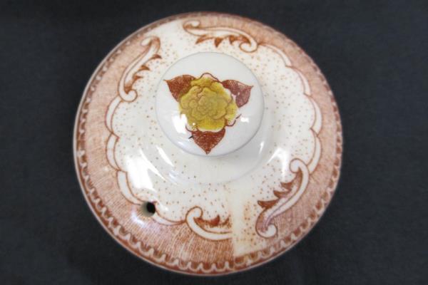 Vintage Porcelain Teapot Decorative Japanese Cultural Landscape