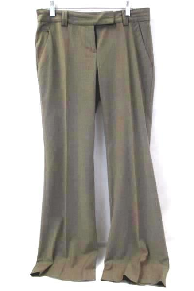 Women's Dress Pants By Loft Brown Flat Front Size 4