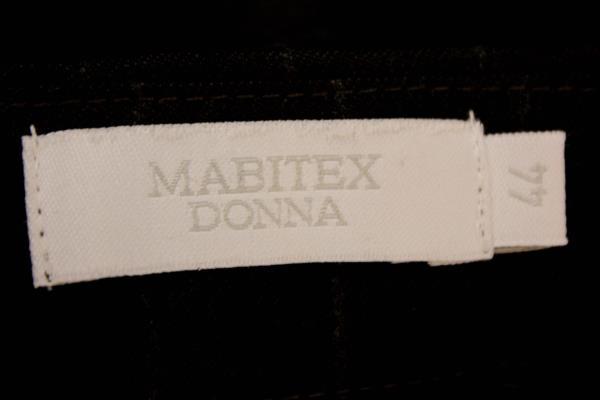 Mabitex Donna Dress Pants Black Gray Stripes 100% Virgin Wool Women's Sz 10 NWT