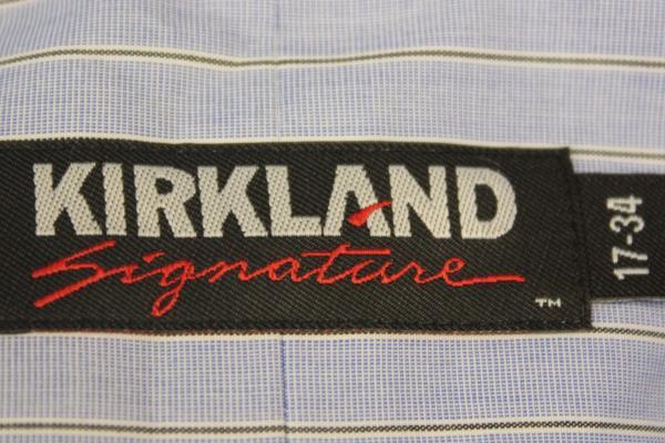 Blue Dress Shirt Men's Button Up By Kirkland Signature Size 17-34