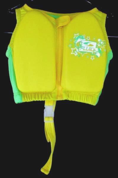 Fluid Medium/Small Swimming Training Vest Yellow Lime Green Unisex 20-33LBS