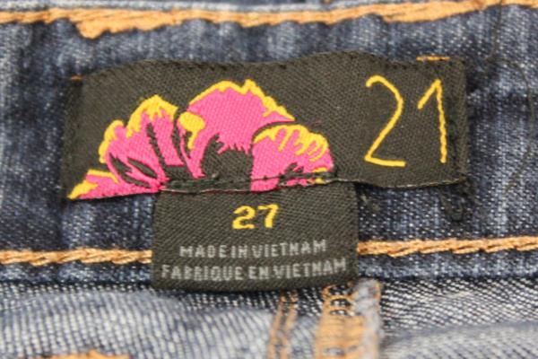21 Women's Skinny Jeans Pants Size 27 Dark Blue Wash Full Zipper