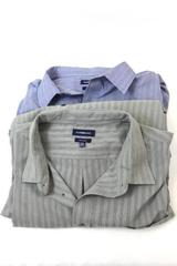 Lot of 2 Croft & Borrow Men's Button Up Shirts Plaid Olive Blue Size 2XL