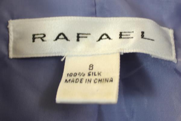 Rafael Women's 100% Silk Blazer Long Sleeves Lavender Sequin Design Size 8