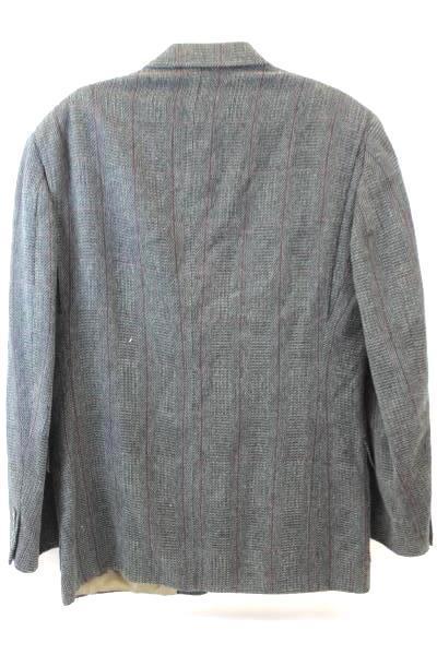 Men's Suit Jacket Blazer Coat by John Weitz Size XL (44-46) ~Gray Grey