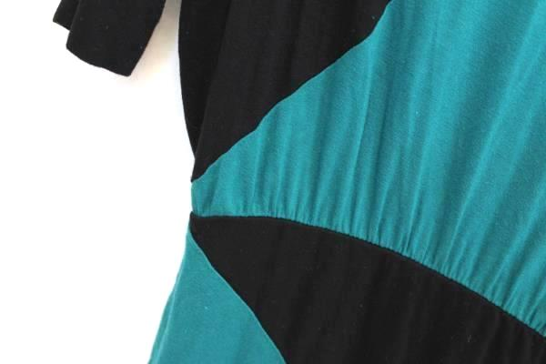 XXI Women's Black Turquoise Design Dress Flare Long Sleeve Size S/P