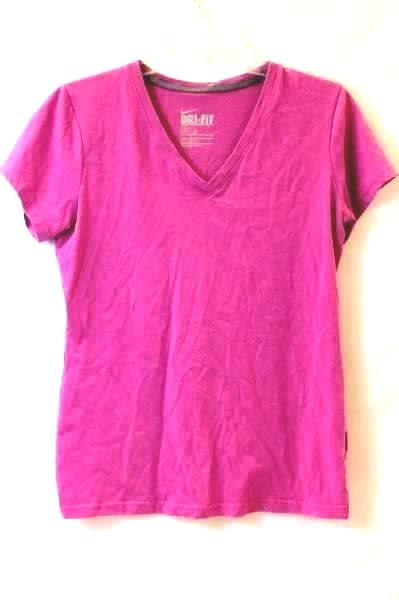 T-Shirt By Nike Dri-Fit Pink Slim Fit Size M