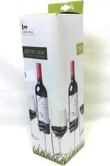True Picnic Stix Wine Bottle and Wine Glasses Holders for Outdoors Original Box