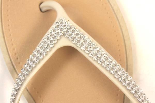 Bobee Women's Flip Flops Beige Tan Size 10