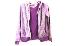 Zip Up by Curfew Purple w/ White Women's Size M