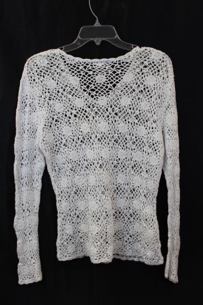 Netted Shirt by Xhilaration- Floral White Women's Size XL