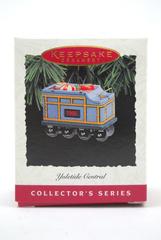 Hallmark 1995 Yuletide Central # 2 Tender Car Keepsake Christmas Tin Ornament