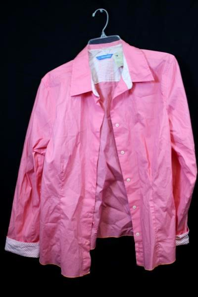 Lot of 2 Dockers Women's Button Up Pink Long Sleeve Size XL