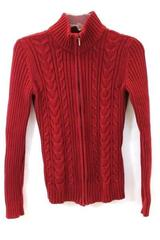 Van Heusen Jacket Red Cable Net Pattern Women's Size XS
