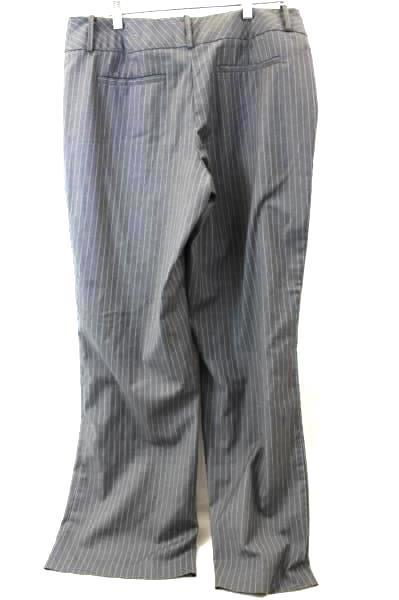Women's Grey and Blue Stripped Career Dress Pants By Worthington Stretch Size 12