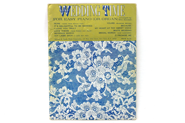 Vintage Piano Song Book Wedding Time by Ben Kendall