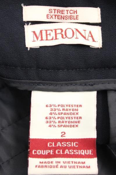 Lot of 2 Merona Philosophy Women's Pants Skirt Slit Solid Black Size 2