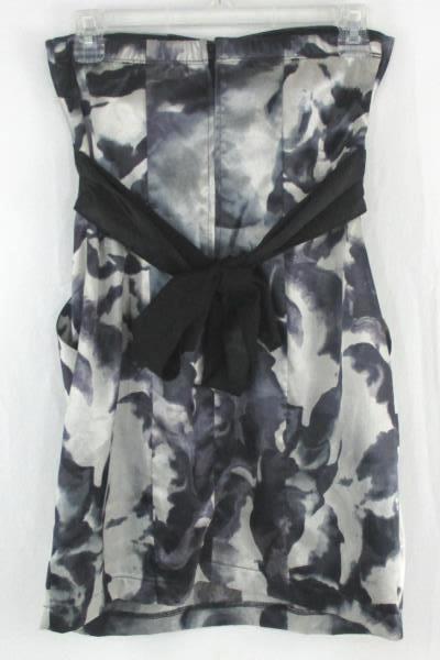 Trixxi Juniors Size 3 Silver and Black Little Strapless Dress w/ Pockets
