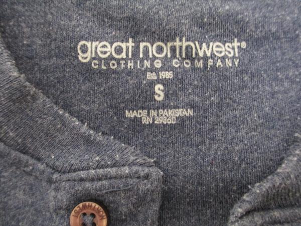 Shirt by Great Northwest Clothing Company- Solid Dark Blue Men's Size S