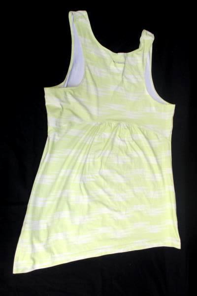 Tank-top by Columbia Sportswear Lime Green w/ White Stripes Women's Size XS/TP