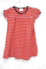 Hanna Andersson Little Girls Dress Red White Stripes Size 120 (6-8)