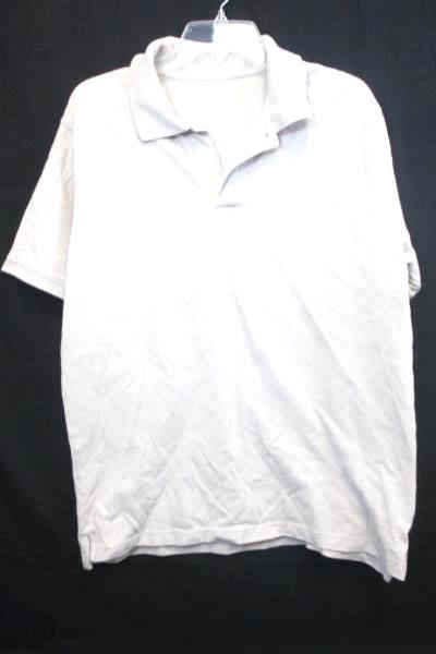 Polo Shirt by St.John's Bay Solid Beige Men's Size Large