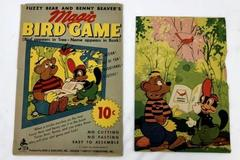 Vintage Fuzzy Bear and Benny Beaver's Magic Bird Game Reed Associates Chicago
